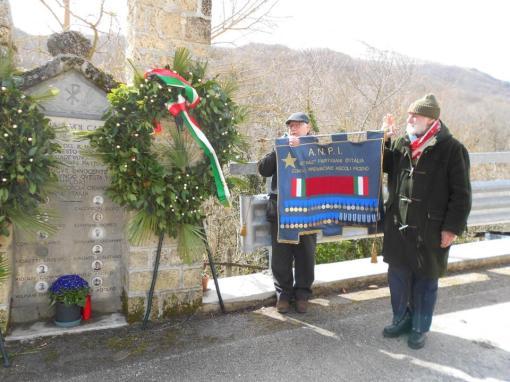 18.3.13 a Montemonaco (AP) con il Presidente della Sezione ANPI di Ascoli Piceno, il Partigiano Ivo Castelli