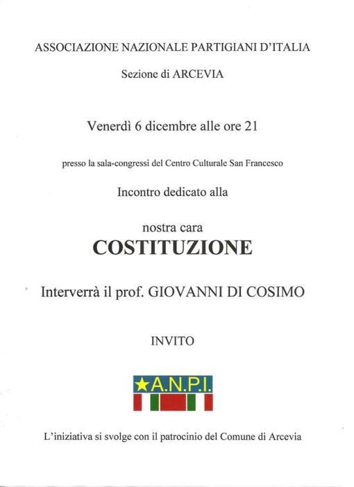 prof. Di Cosimo ad Arcevia con l'ANPI in difesa della Costituzione